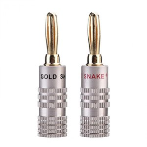 Wholesale VBESTLIFE Banana Plugs mm Diameter Audio Jack Adapter Dual Screw Lock Speaker Connector K Gold Plated Pure Copper