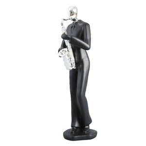 Classic Music Band Figurines Resin Art Saxophone Player Musician Figurine Home Office Living Room Decoration Gifts