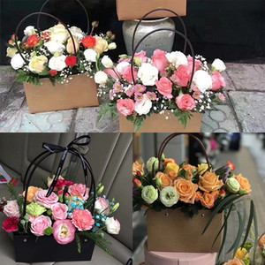 Wholesale PVC Supply Gift Bags Paper Holder Box Romantic Envelope Flower Bouquet Florist Pack for Valentine s Day Gift Birthday Party