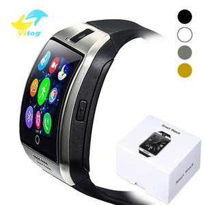 Wholesale Q18 Bluetooth Smart Watch With Touch Screen Big Battery Support TF Sim Card Camera for iphone Android Phone Smartwatch