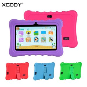 Wholesale XGODY quot Tablet Android For Children Portable inch Kids Tablet PC Quad Core GB GB HD Dual Camera WiFi With Stand Case
