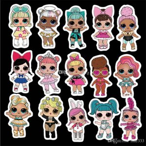 50pcs lot DIY Waterproof Stickers Cartoom lol Stickers lol doll series paster collection decals scrapbooking Kids Toy on Sale