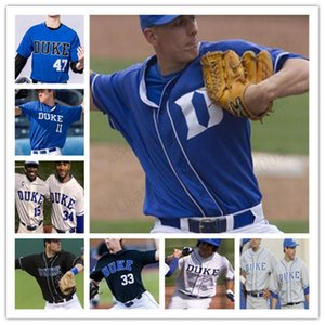 ingrosso royals pullover giovani-Custom Duke Blue Devils College Baseball Marcus Stroman Michael Seander Qualsiasi Nome Nome Bianco Royal Blue Black Grey Jerseys S XL