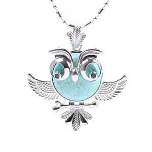 Wholesale qimoshi Women s Pendant Jewelry Owl Pendant Necklace Women s Natural Crystal Semi Gemstone Small Animal Model Female Ornament Owl Long Penda