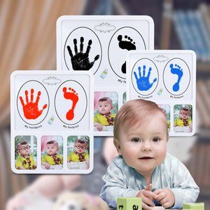 Wholesale Baby Picture Frames footprint and Handprint Photo frame infant souvenirs Newborn hundred days gift C6016