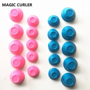 Silicone curlers 10Pcs set Hairstyle Soft Hair Care DIY Peco Roll Hair Style Roller Curler Salon Soft Silicone Pink Color Hair Roller on Sale