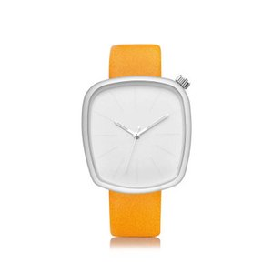 Wholesale Irregular Square Large Dial Belt Business Unisex Simple And Generous Design Leather Strap Multi Color Creative Watch