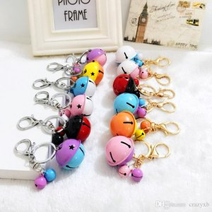 New Style Small bell Keychain Fur Key chains Diy Candy Colors Keyring For Women Girl Birthday Christmas Gift