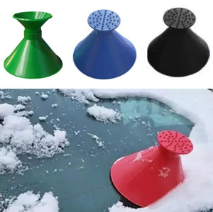 New Scrape A Round Ice Scraper Car Windshield Snow Scraper Cone Shaped Ice Scrapers Cleaning Brushes Christmas Gifts XD21233