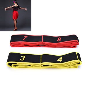 Wholesale 1pc Adult Expander Fitness Gymnastics Pilates Crossfit Latin Dance Workout Elastic Training Resistance Bands Yoga Stretch Rope