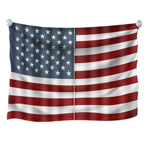Wholesale American Flag Curtains th of July Independence Day Background Window Drapes for Living Room Bedroom E2S