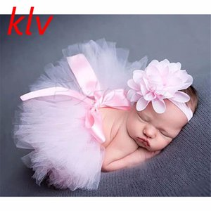 Wholesale Cute Newborn Baby Girls Tutu Skirt Headband Photo Prop Costume Toddler Kids Outfit Infant Baby Short Cake Skirt For M