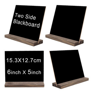 Wholesale bar signs resale online - New Mini Double Side Chalkboard Signs Vintage Style Wood Base Stand Buffet Bar Message Display Signs Novelty Home Decorative Rustic Wedding