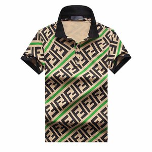 Wholesale Plus XL Size Multi Embroidery Polo Shirts Man Fashion Design Ribbed Sleeves Split Hem Stretch Polos Top Male
