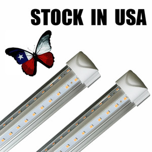 Wholesale 8ft led tube lights V Shape foot design shop LED lights fixture ft ft ft ft ft Cooler Door Freezer lighting fluorescent Lamps