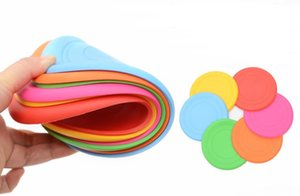 Wholesale Soft Silicone Flying Disc Pet Dog Bite Resistant Frisbee Disk Pet Toy Training Silicone Color Selection