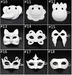 Papper DIY Party Mask Creative Painting Halloween Chirstmas Party Mask Children Women Men DIY Half Face Full Face Masks