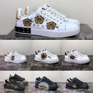 Wholesale New DG chaussures Couple Link Embelled platform with stunning luxury Fashion Casual Designer stock x Men Women Shoes Sport Sneakers Size
