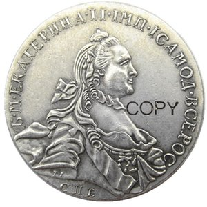Wholesale russia coins copies for sale - Group buy 1763 RUSSIA SILVER ROUBLE RUBLE Coin VF Catherine II KM C672 St Petersburg Silver Plated Copy Coins