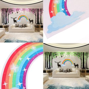 Wholesale 1ps DIY Window Sticker Decal Rainbow Wall Sticker Sponge Wallpaper For Kids Room School Nursery Home Decor