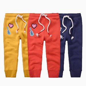 Baby Boy Cartoon Pants Toddler Girl Designer Clothes Kids Solid Color Casual Pants Unisex Cotton Baby Trousers 43 on Sale