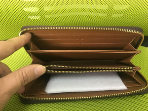 Wholesale Fashion men women clutch Genuine leather wallet with box