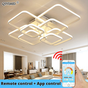 Wholesale acrylic ceiling pendant resale online - Modern Led Chandelier With Remote Control Acrylic Lights For Living Room Bedroom Home Chandelier Ceiling Fixtures