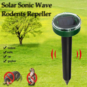 poder ultra-sônico venda por atacado-Outdoor Ultrasonic Pest Repeller Garden Mole repelente Solar Power Ultrasonic Mole Serpente Pássaro Mosquito Controle do Mouse Jardim Quintal