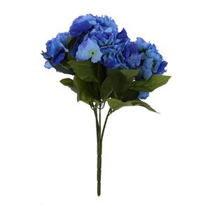 Wholesale Artificial Hydrangea Flower Heads Bouquet Wedding Garden Party Bridal Decor Dark Blue