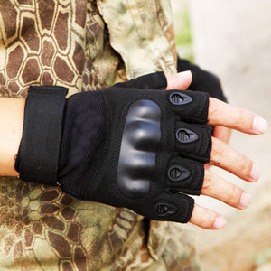 Wholesale Men s Tactical Gloves Military Army Fingerless Outdoor Sports Anti Slip Shooting Paintball Airsoft Bicycle Gloves Black Army Green Khaki