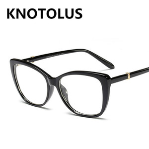 Black Frame Women CatEye Eyeglasses Luxury Diamond Glasses Frame Ladies Clear Lens Computer Eyewear