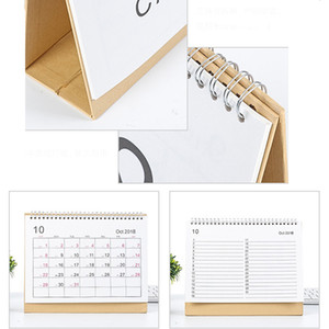 Wholesale Writable Weekly Planner Monthly List Plan Daily Calendar Desktop Creative Office White Stand Simple cm Calendar BH0645 TQQ