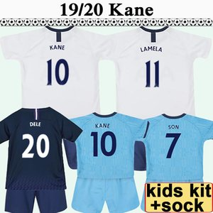 Wholesale 19 KANE LAMELA Kids Kit Soccer Jerseys DELE ERIKAEN VERTONGHEN Home Away rd Boy Girl Football Shirts SON SISSOKO LLORENTE Child Socks