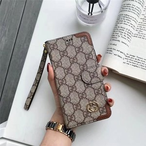 Wholesale for Iphone Plus for Iphone XS MAX Case with Hand Rope Fashion Classical Monogram Case with Wallet and Fiilp for Iphone XS XR Plus Cover