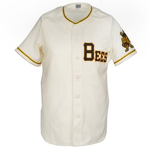 Wholesale Salt Lake Bees Home Jersey Stitched Embroidery Logos Vintage Baseball Jerseys Custom Any Name Any Number