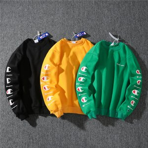 Wholesale Champ Letter string logo printed hoodies Autumn Winter Fashion brand Men Women Luxury long sleeve Sweatshirts Cotton Hooded Pullover sweater