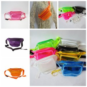 Wholesale 10styles Jelly Transparent waist bag Women Pvc Fanny Packs clear summer Beach Waterproof Waistpack purse handbag phone comestic bags FFA2046