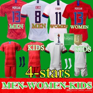 Men Women Kids Soccer Christian Pulisic Jersey Alex Morgan Julie Ertz Megan Rapinoe Press Lloyd Heath Yedlin Dempsey Altidore Football Shirt on Sale