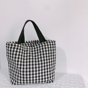 Wholesale designer check bag for sale - Group buy Buffalo Check Handbag Cotton Plaid Shoulder Bag Women Shopping Bags Large Capacity Travel Tote Sports Storage Bags Lunch Handbags GGA3480