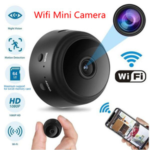 video encubierto al por mayor-A9 MINI CAMERA WIFI Cámara de video inalámbrica P Full HD HD Pequeña Niñera Cam Noche Visión Movimiento Cubierta activada Cubierta Magnet Pequeñas cámaras