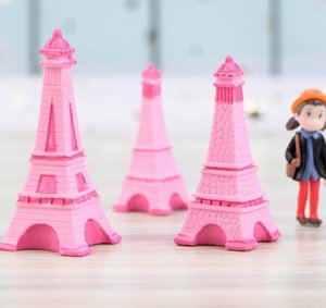Wholesale Eiffel Tower Resin Craft Miniature Fairy Garden Desktop Room Decoration Micro Landscape Accessory Cactus Planter Gift Novelty Games GGA2013