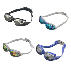 Swimming Goggles Cap Earbuds Nasal Clip Set Waterproof Anti-Fog UV Resistant Swim Glasses Adjustable Elastic Head Band