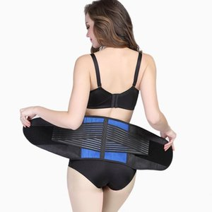 Wholesale Adult Double Pull Lumbar Support Lower Waist Adjustable Back Belt Brace Pain Relief Est Black Color