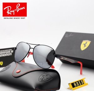 Wholesale 2019 new men s polarizing sunglasses hd polarizing lens carbon fiber mirror leg sunglasses case set