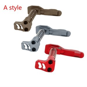 Wholesale CNC Finished Double Side (Left & Right Hand) Magazine Release Catch For M4 M16 Series Airsoft AEG Red Gray