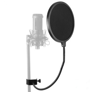Wholesale net guard resale online - MPF Pop Filter Professional Pop Shield Bilayer Recording Spray Guard Windproof net Cantilever Bracket For Studio Microphone