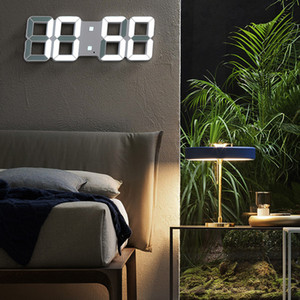 LED Clock Alarm Watch USB Charge Electronic Digital Clocks Wall Horloge 3D Dijital Saat Home Decoration Office Table Desk Clock