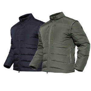 Wholesale PAVE HAWK White duck down Jackets Removable Sleeves Outdoor Keep Warm Down Unisex Light Vest Camping Hiking fishing hunting p