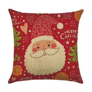 Wholesale Christmas Cushion Cover Cartoon Gift Square Throw Sofa Decoration Pillowcase Decorative Pattern Pillow Case Car Printing Printed Home Decor