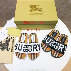 Wholesale Newest Branded Kids Leather cute cartoon letter print slippers fashion Boy Girl rubber summer sole Non-slip beach Slide Sandal off-w3